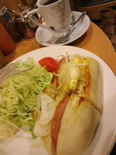 前田珈琲で朝ご飯