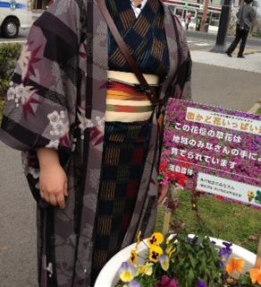 本川のシンボル花壇お披露目