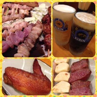 焼き鳥とビールが旨い!