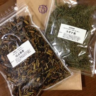 まる吉カフェの和ハーブ茶